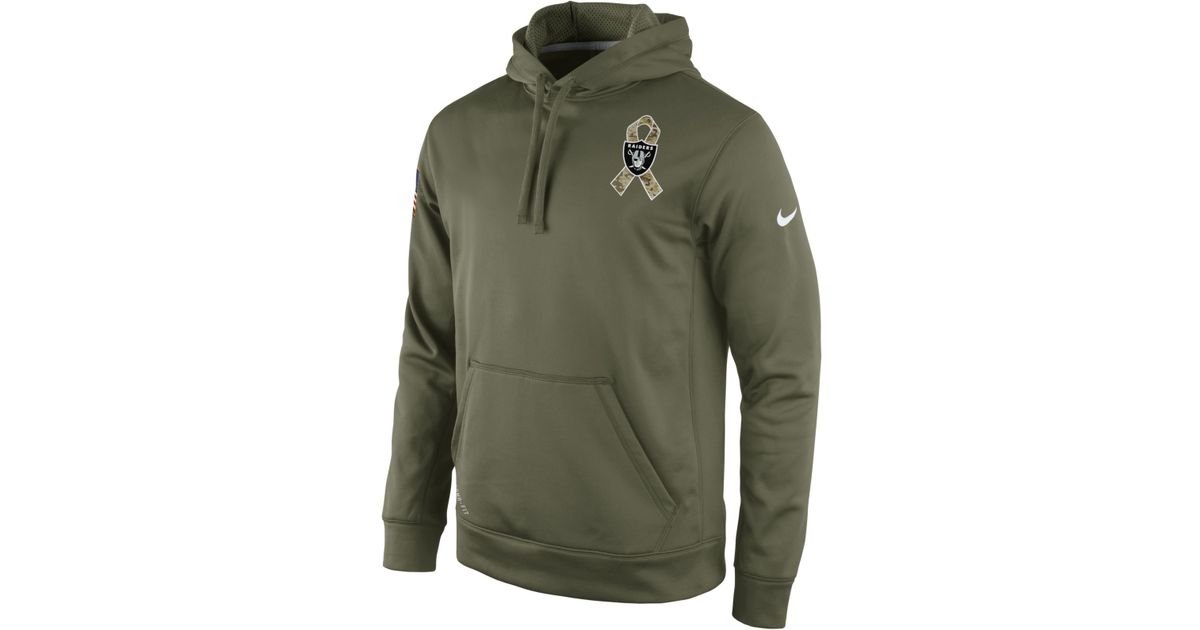 25df7a2eef5 ... Nike Mens Oakland Raiders Salute To Service Ko Hoodie in Green for Men  Lyst ...