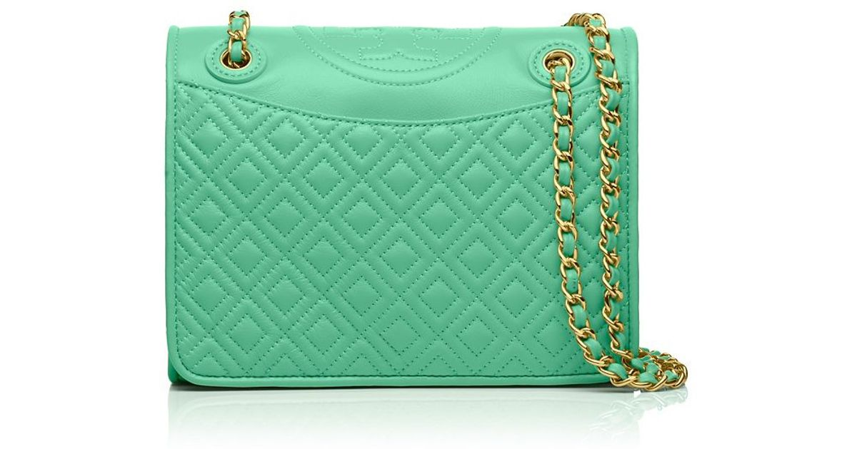 73e26a866a ... sweden lyst tory burch fleming medium bag in green f0e25 f0655 discount  code ...