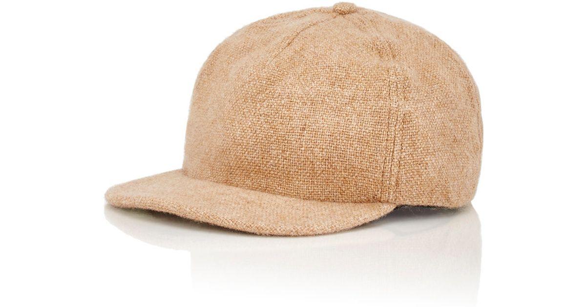 Lyst - The Elder Statesman Men s Woven Baseball Cap in Natural for Men 82e674465d8