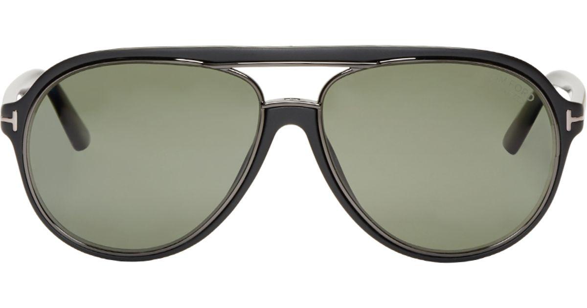 84afc2993 Tom Ford Black Matte Sergio Sunglasses in Black - Lyst