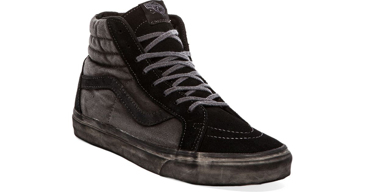 e53533b80f Lyst - Vans California Sk8hi Reissue Over Washed in Gray in Black for Men