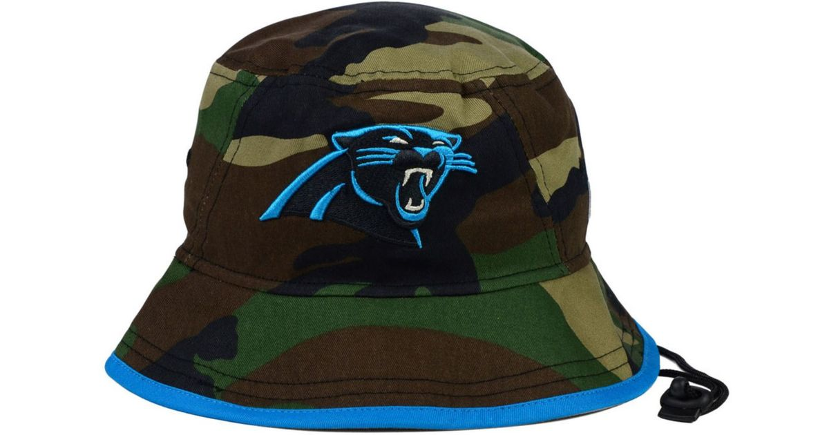 de31739aa ... black 2018 salute to service sideline low profile 59fifty 58ff8 d3448   where can i buy lyst ktz carolina panthers camo pop bucket hat in green for  men