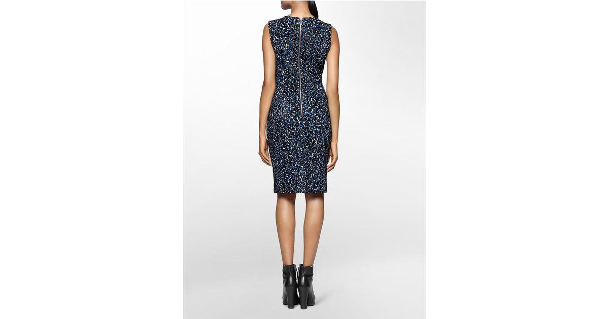 Lyst Calvin Klein White Label Textured Animal Print Sleeveless