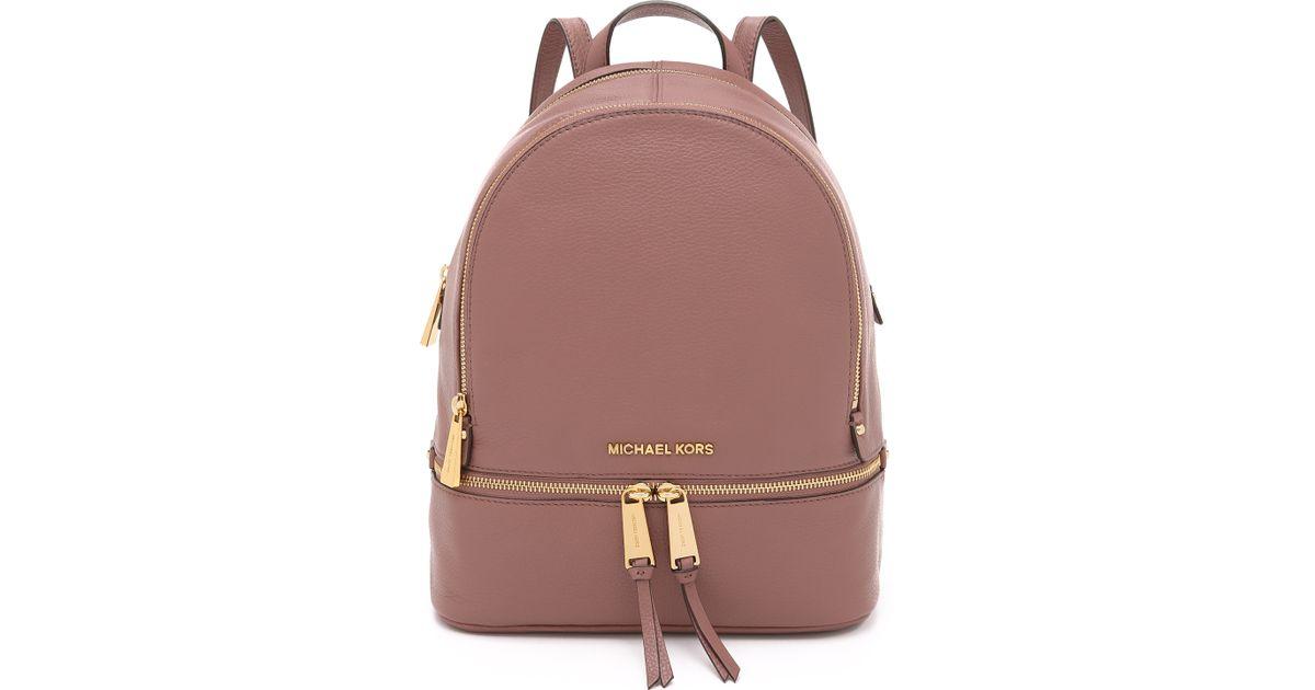 23b1c0e768701f ... get lyst michael michael kors rhea backpack navy in pink b7598 f1cbe