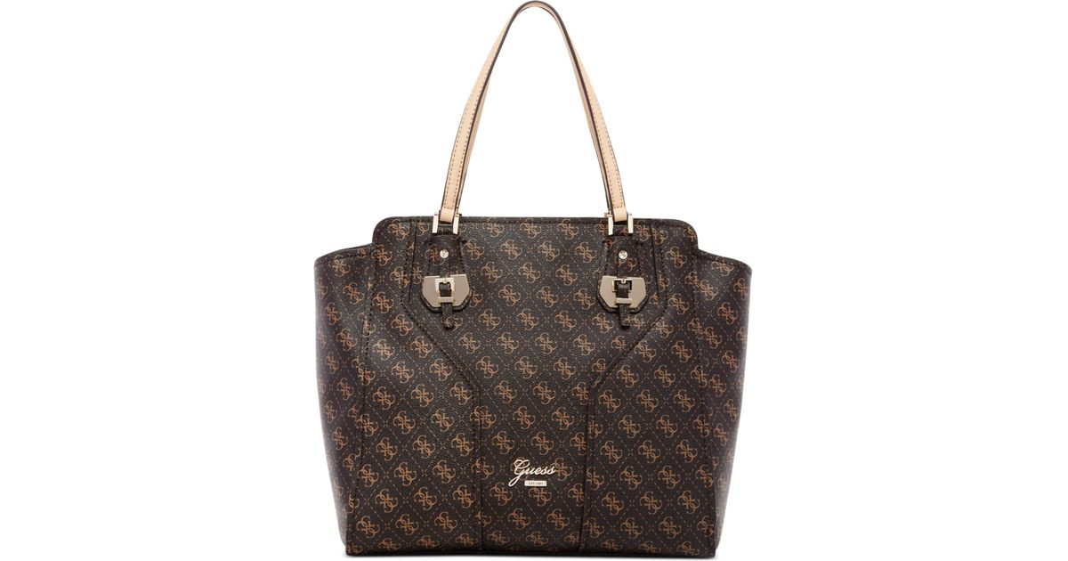 232af019e2 Lyst - Guess Confidential Logo Avery Tote in Brown
