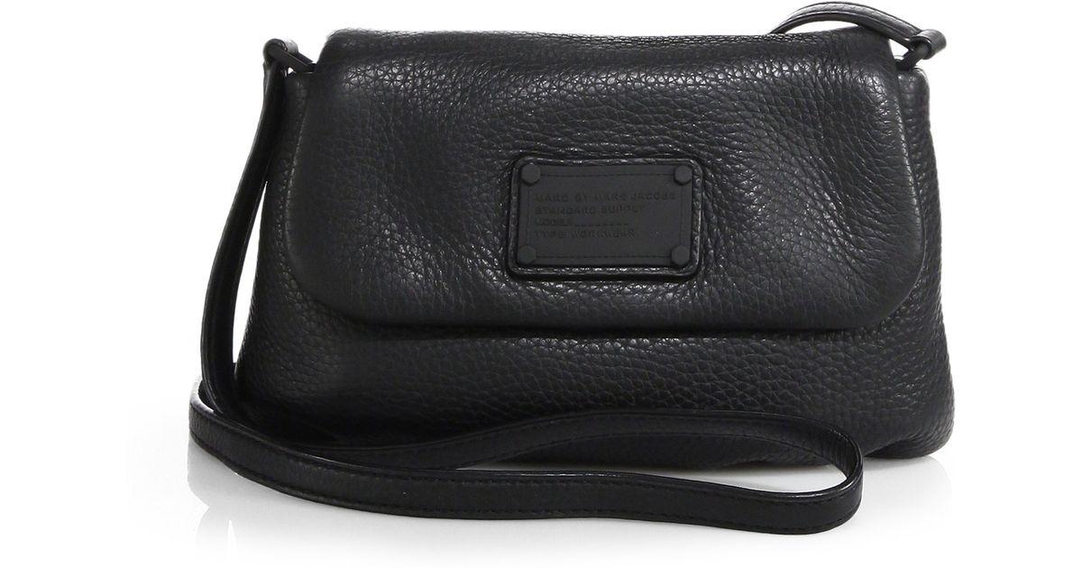 cf4b99fd64f Marc By Marc Jacobs Electro Q Flap Percy Shoulder Bag in Black - Lyst