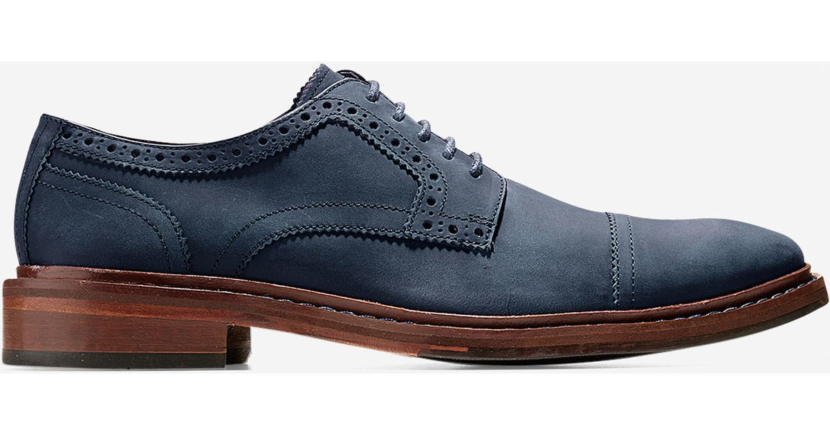 Cole Haan Williams Welt Cap Toe Oxford In Blue For Men Lyst