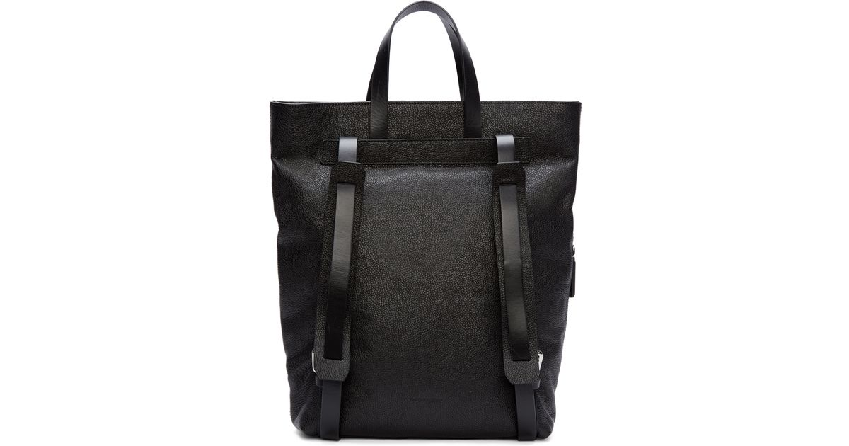 Lyst - CoSTUME NATIONAL Black Leather Tote Backpack in Black