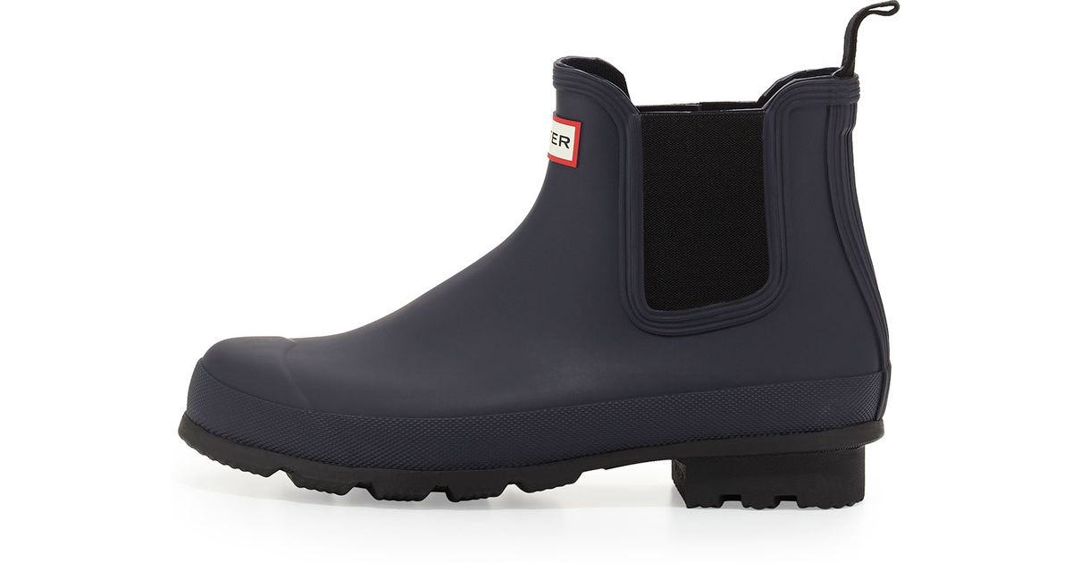 Hunter Dark-sole Chelsea Boot in Blue for Men (DARK BLUE ...
