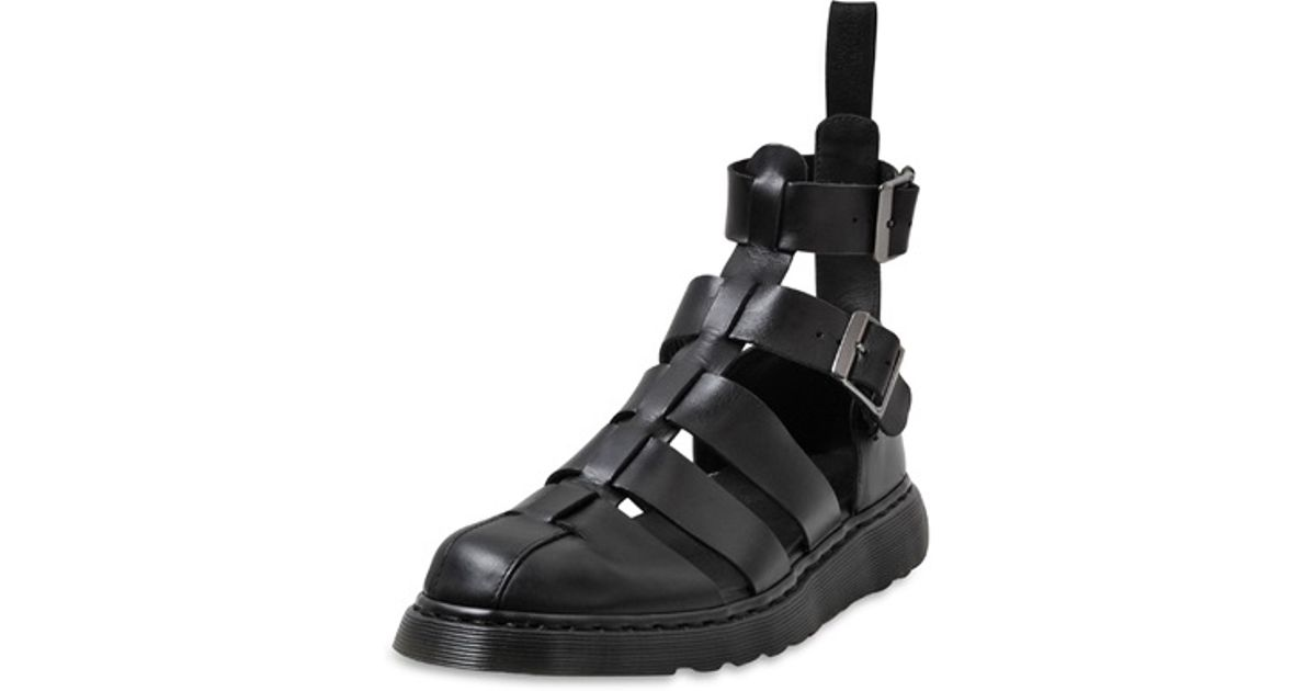 0ac3ebaa33b Lyst - Dr. Martens Leather Gladiator Sandals in Black for Men