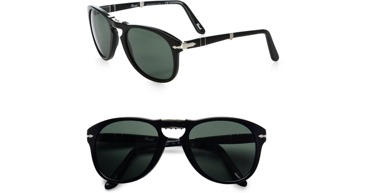e81915d78a Persol Vintage Folding Keyhole Sunglasses in Black for Men - Lyst