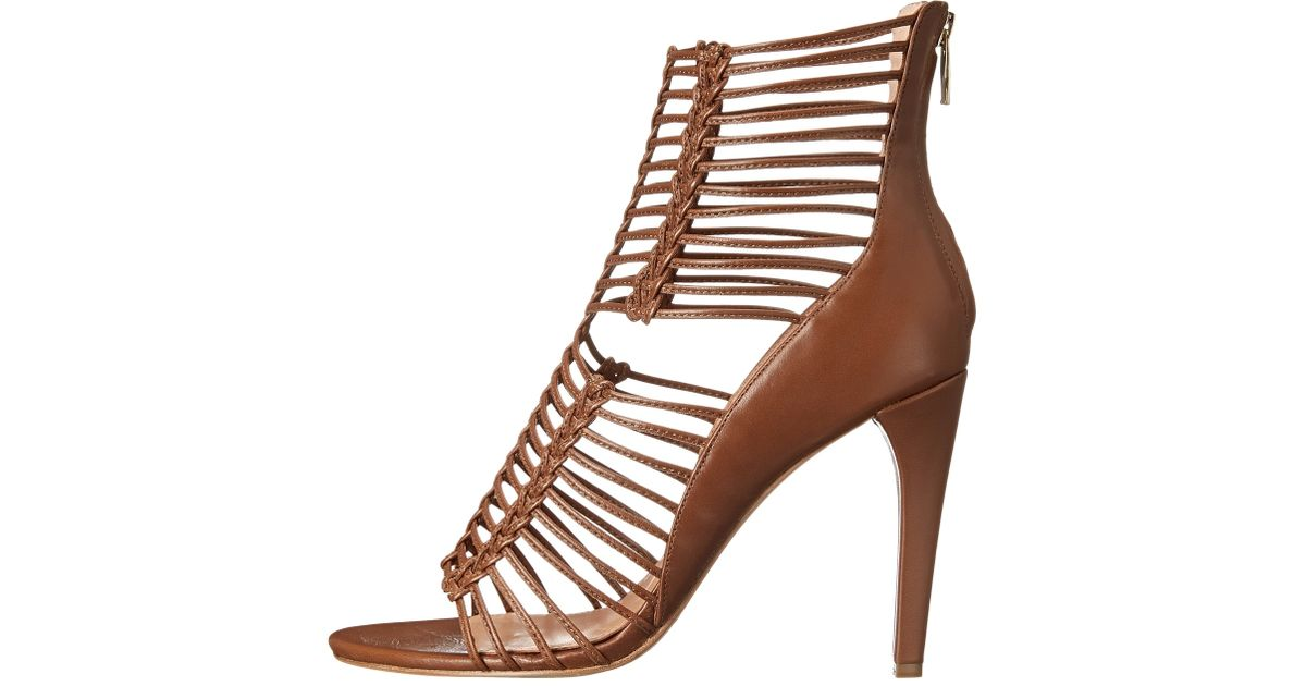 48d5048d036203 Lyst - Belle By Sigerson Morrison Mella Strappy Leather Caged Sandal in  Brown
