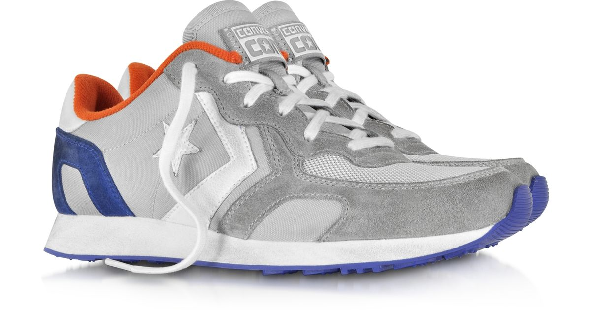 Lyst - Converse Auckland Racer Ox Gray Orange Blue Nylon And Suede Sneaker  in Gray for Men 7a559338c