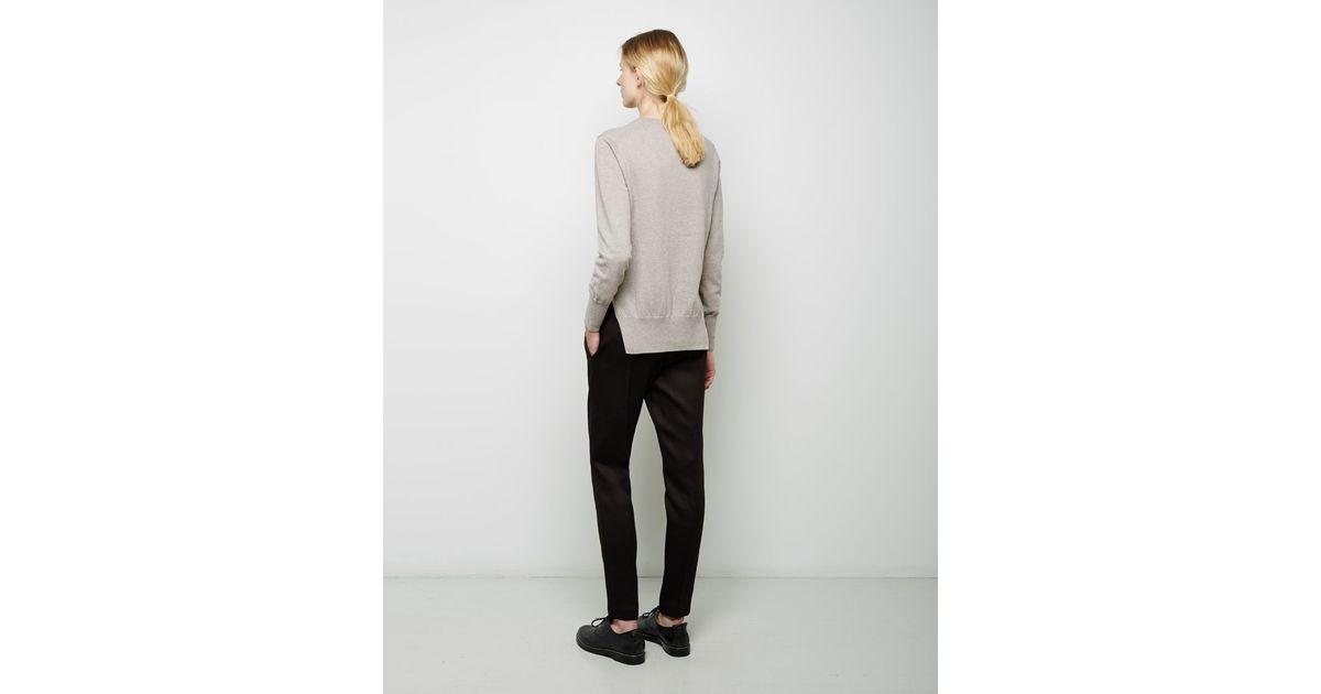 toile isabel marant kerstin crewneck pullover in gray lyst. Black Bedroom Furniture Sets. Home Design Ideas