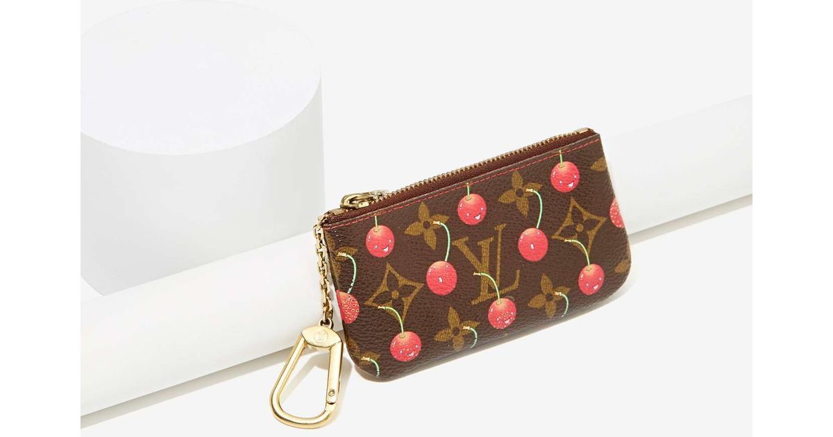 0c02a83351ec Lyst - Nasty Gal Vintage Louis Vuitton Cherries Leather Coin Purse in Brown