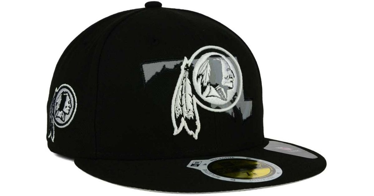 Lyst - KTZ Washington Redskins State Flective Redux 59fifty Cap in Black  for Men 079e09f665a