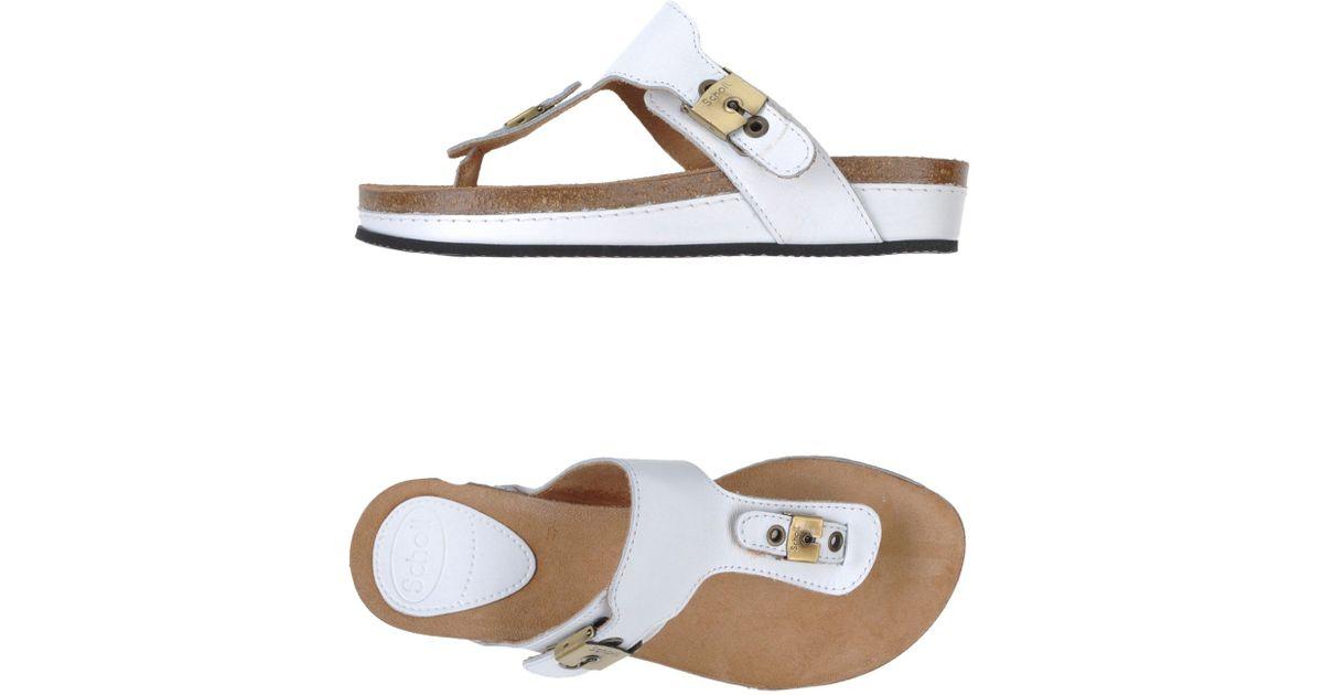 716d838b1bd5 Scholl Thong Sandal in White - Lyst