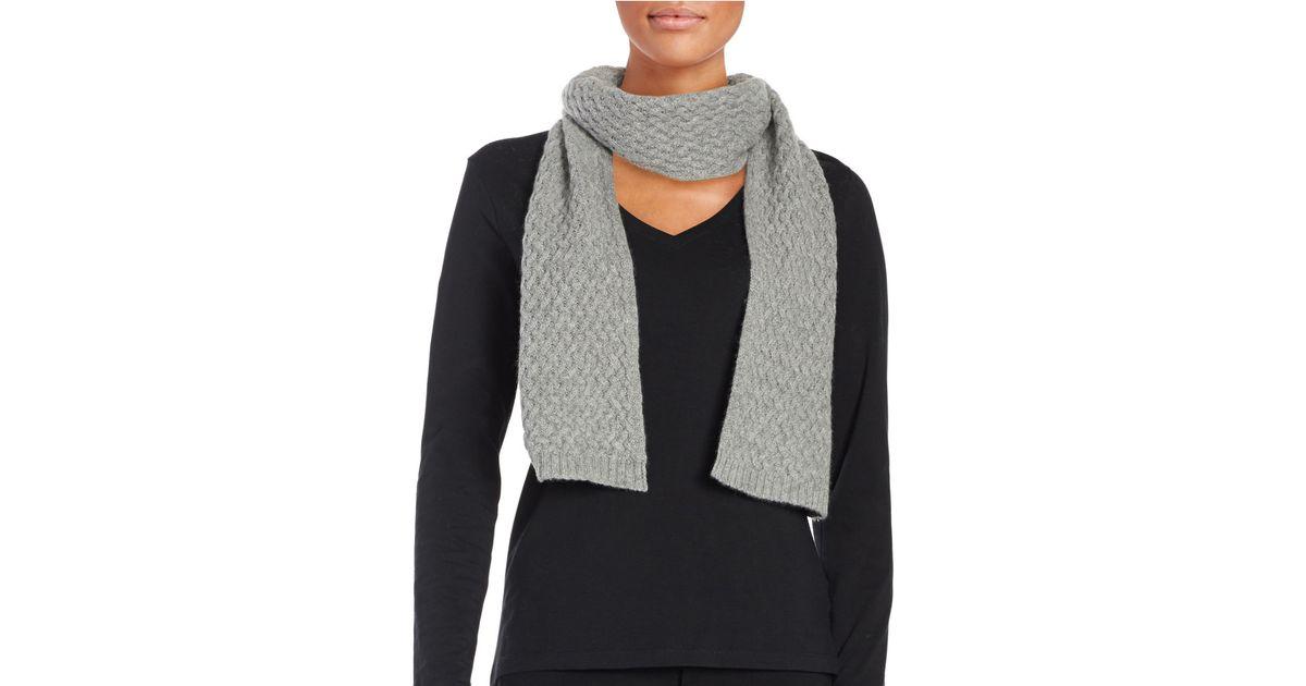 lord knit scarf in grey grey lyst
