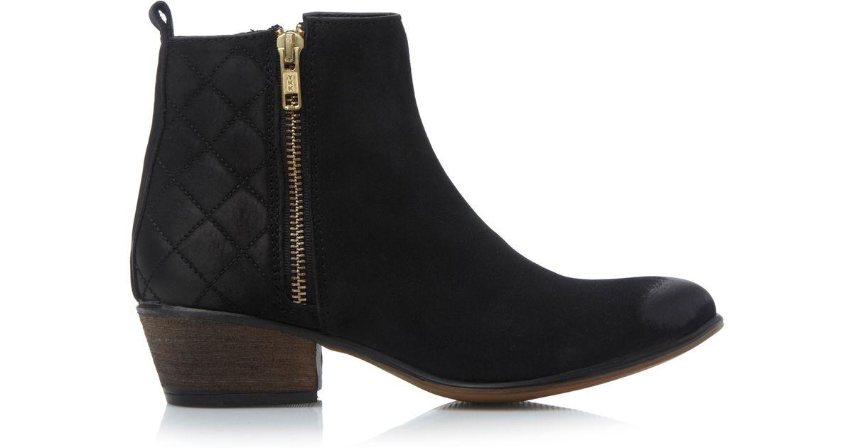 35116da142e Steve Madden Black Nyrvana Leather Ankle Boots