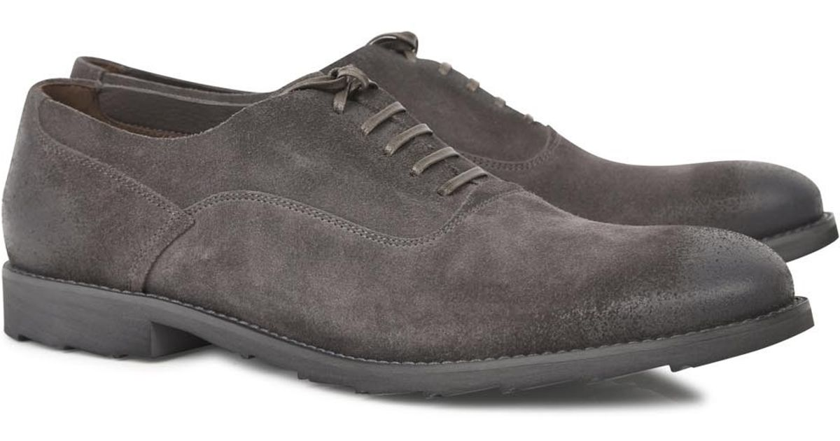 bed3c661d76 Dolce & Gabbana Grey Brushed Suede Oxford Shoes in Gray for Men - Lyst