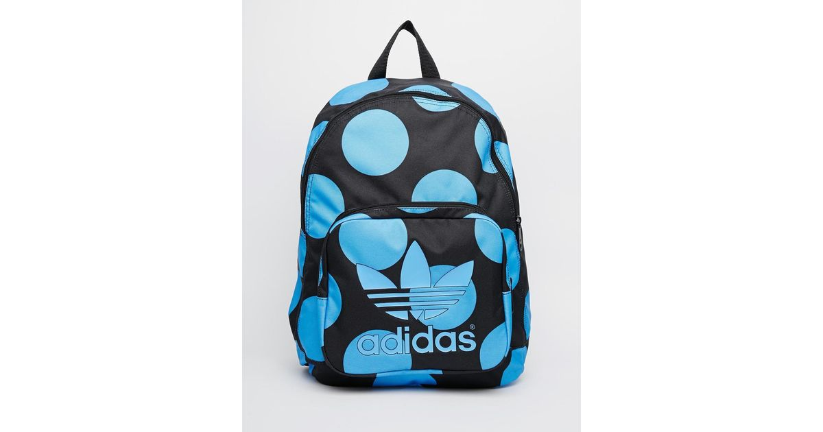 Lyst - adidas Originals X Pharrell Williams Backpack In Blue Spot in Black ab6f15ecd6deb