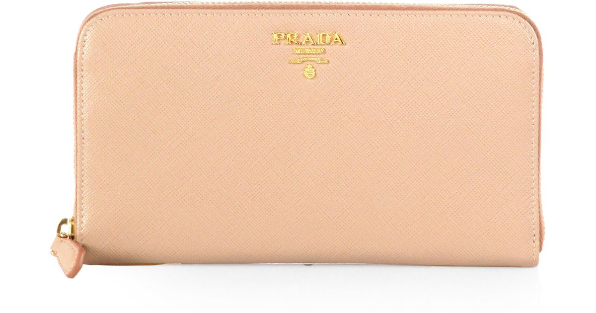 prada tessuto saffiano tote bag - Prada Saffiano Metal Oro Continental Wallet in Pink (CAMMEO-BLUSH ...