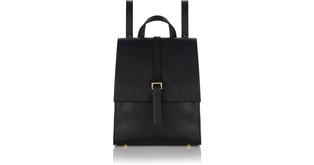 Lyst - Meli Melo Azzurra Leather Backpack in Black e21d1df4bd9c0