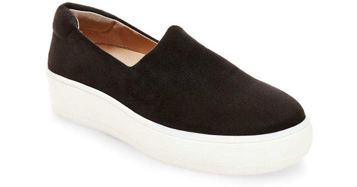 265dfe421f6 Steven by Steve Madden - Black Hilda Velvet Platform Sneakers - Lyst