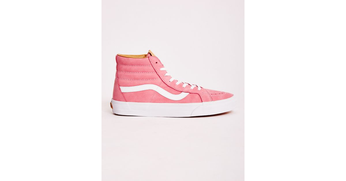 6114d421cb3300 Lyst - Vans Sk8-Hi Reissue California Suede Sneakers in Pink for Men