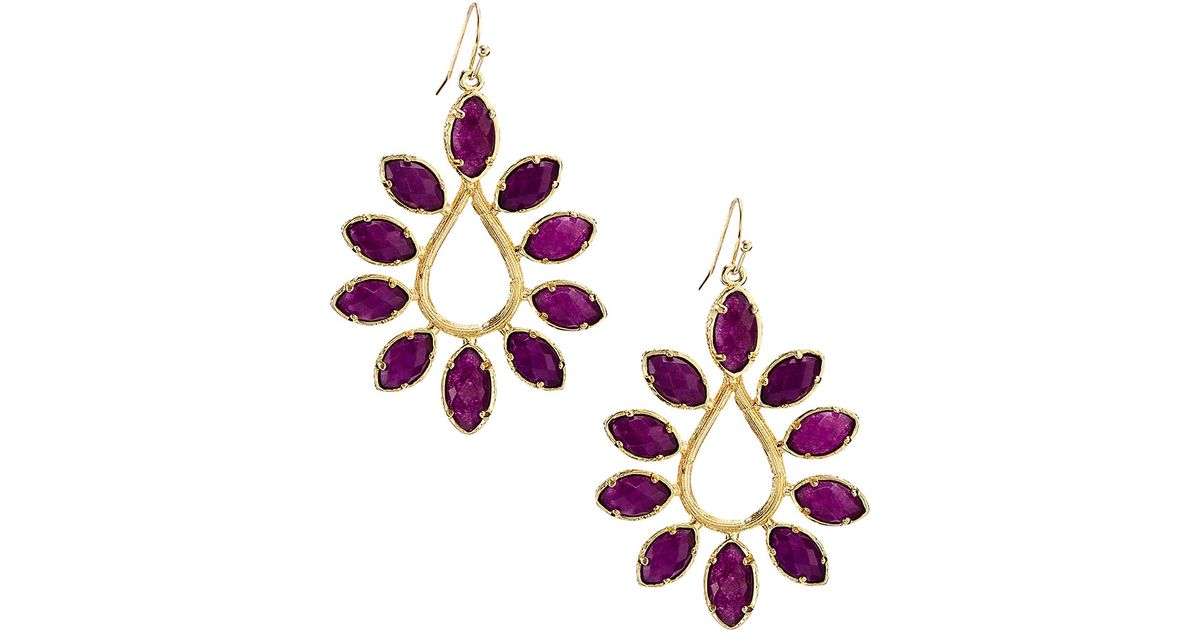 earring kendra danielle purple earrings m jewelry scott jade listing in poshmark off