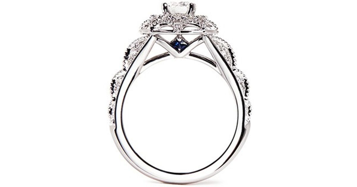 set rings engagement pin carat diamond a tiara platinum ring with