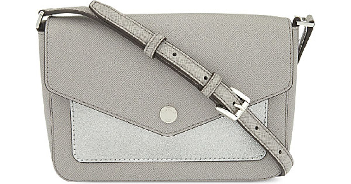 686001e7634c MICHAEL Michael Kors Greenwich Small Leather Cross Body Bag in Metallic -  Lyst