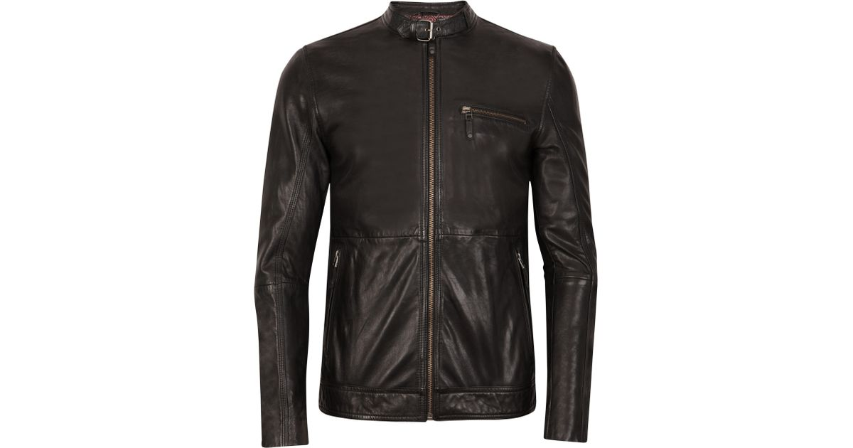 e81036f0c Ted Baker Visery Leather Jacket in Black for Men - Lyst