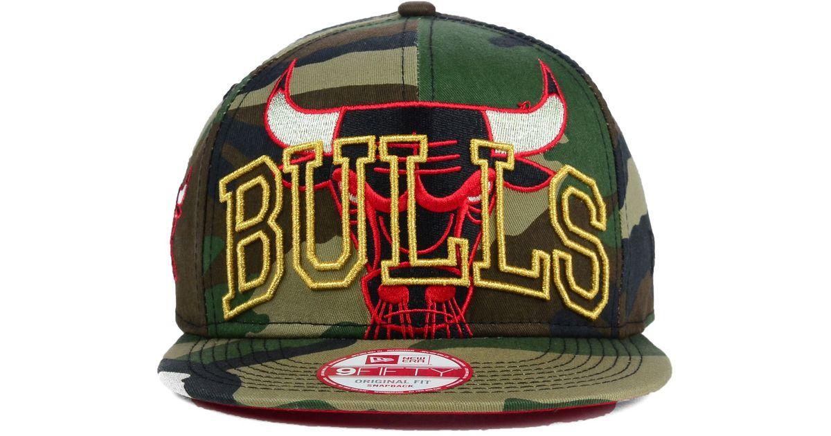 info for 68c72 83ce0 KTZ Chicago Bulls Metallic Cue Original Fit 9Fifty Snapback Cap in Green  for Men - Lyst
