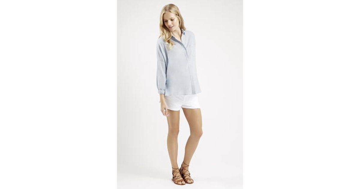 95bbf3d6dfa Lyst - TOPSHOP Maternity Oversized Chambray Shirt in Blue