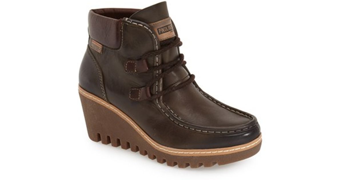 3eb6e9921bf Lyst - Pikolinos Maple W0e Wedge Boots in Brown