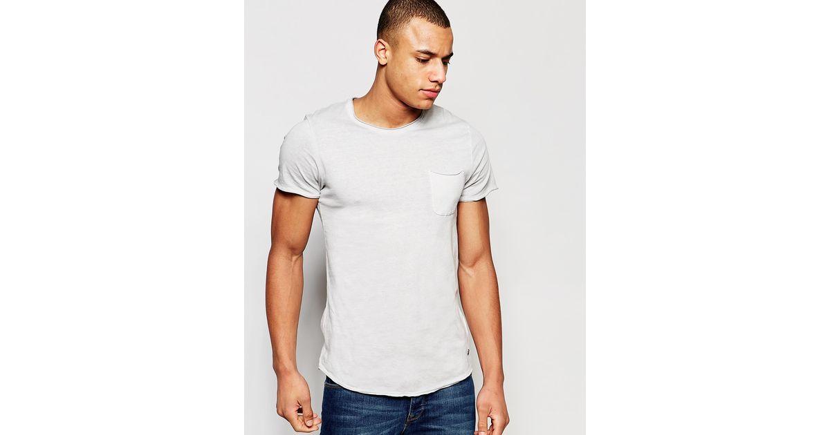 jack jones t shirt in slim fit in blue for men lyst. Black Bedroom Furniture Sets. Home Design Ideas