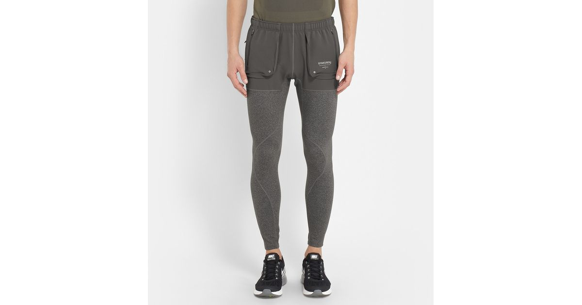 Nike Gyakusou Jersey Running Tights in Green for Men | Lyst