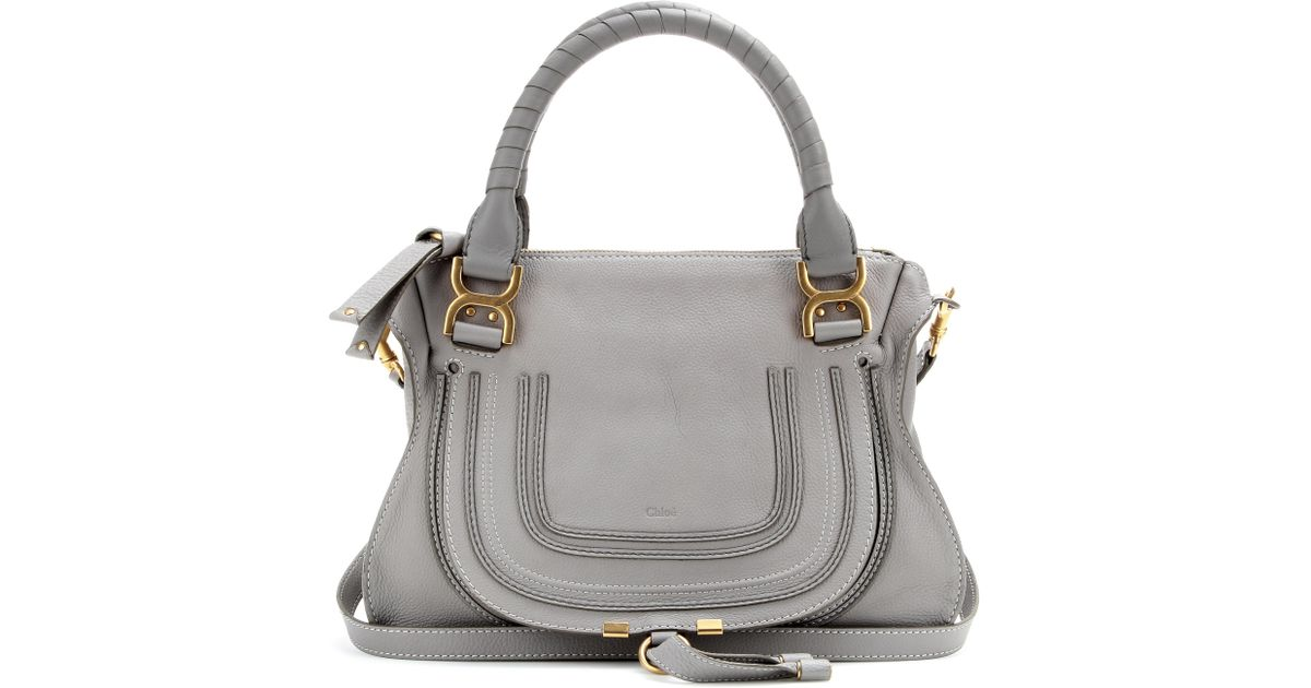 Bien-aimé Chloé Marcie Medium Leather Shoulder Bag in Gray | Lyst OK29