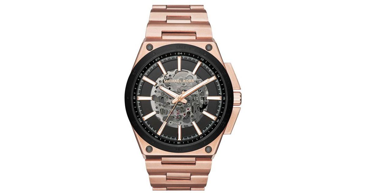 michael michael kors wilder bracelet watch in pink for men lyst