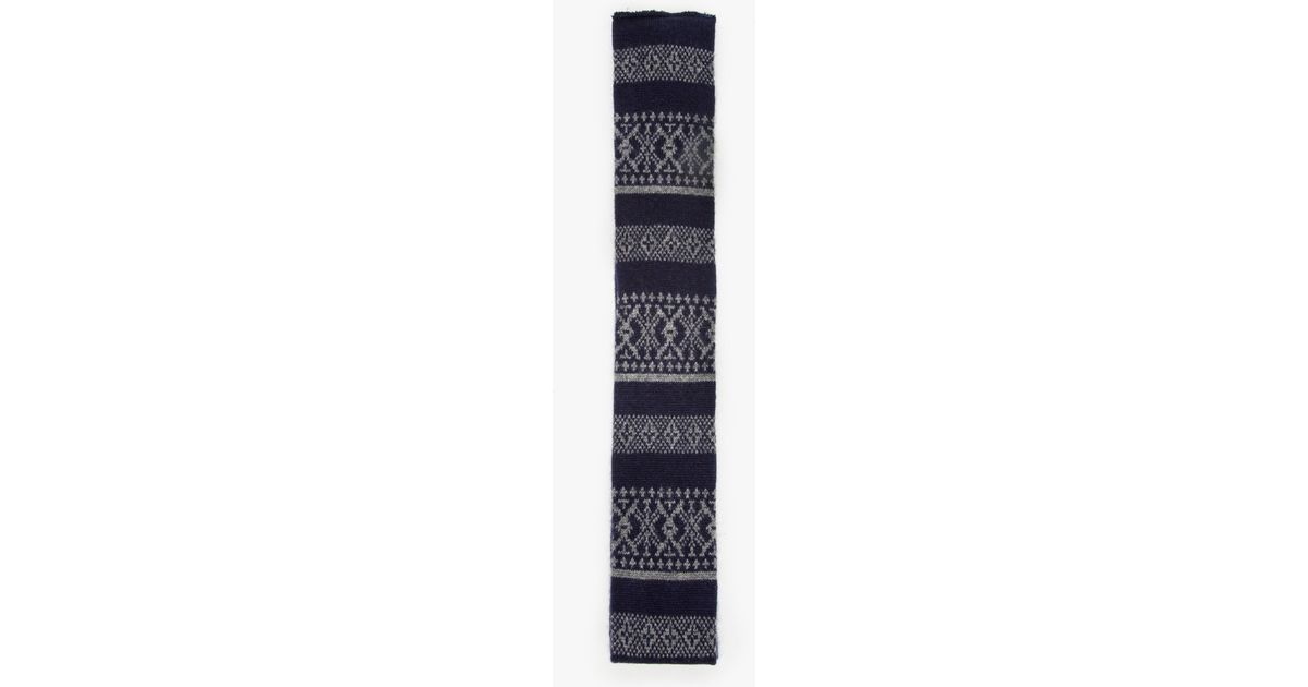 Engineered garments Fair Isle Cashmere Knit Tie in Blue for Men | Lyst