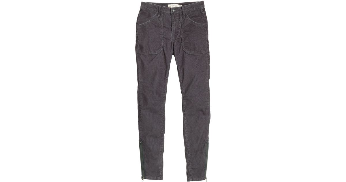H&m Corduroy Cargo Pants in Gray | Lyst