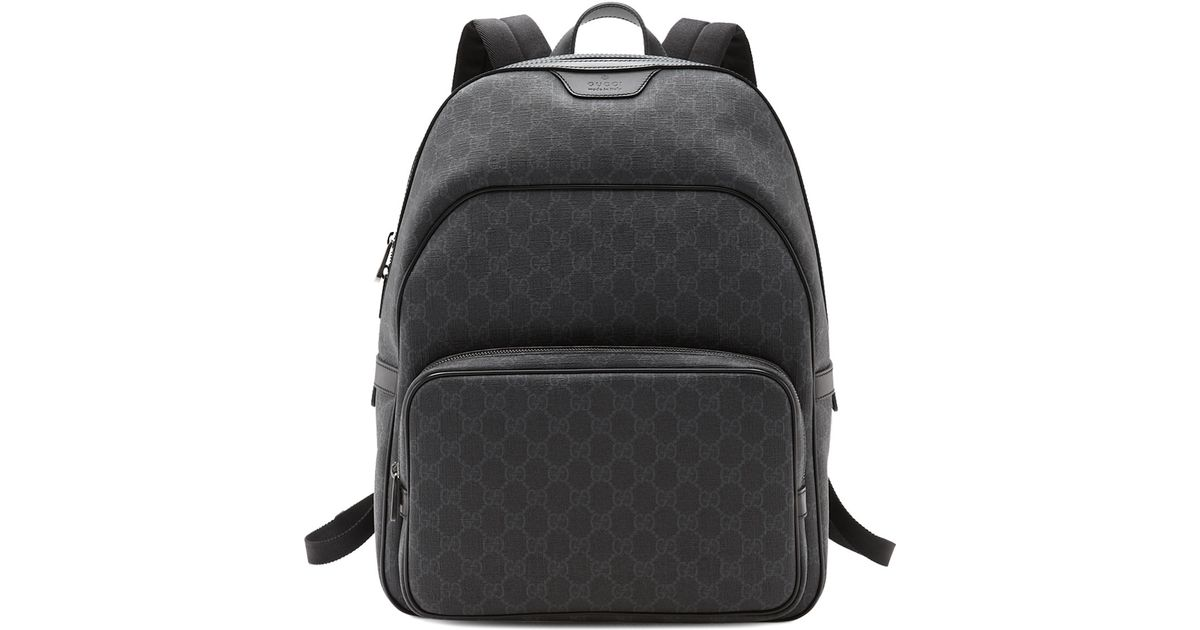 f610ee742ee2 Source · Lyst Gucci Gg Supreme Canvas Backpack in Black for Men