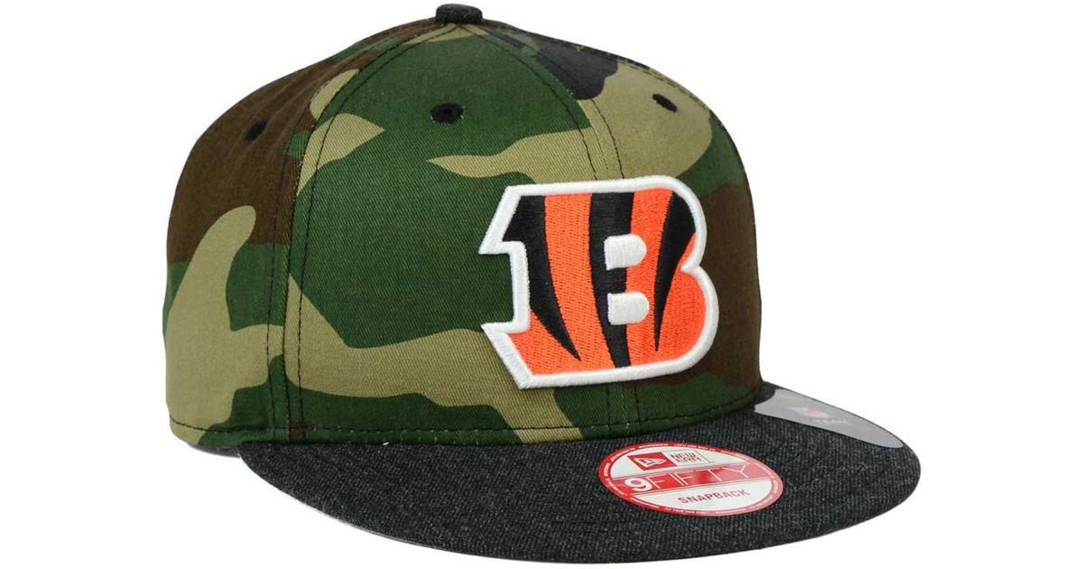 edaee0ddc Lyst - Ktz Cincinnati Bengals Camo Heather 9fifty Snapback Cap in Green for  Men