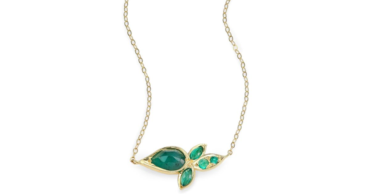 rickis hi res necklace soft leaf gold pendant