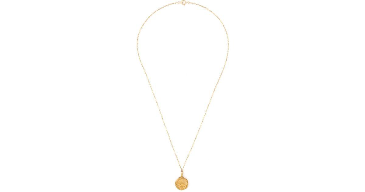 Lyst alighieri st christopher pendant necklace in metallic aloadofball Choice Image