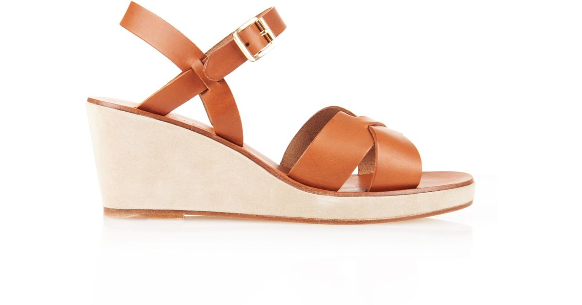 A.P.C. Leather Wedge Sandals browse cheap online outlet manchester great sale Q7Gu0