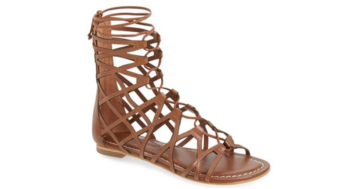 81a8d6badcc1 Lyst - Bernardo Willow Gladiator Sandal in Brown