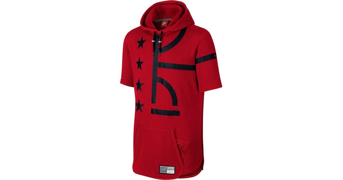 60446f574ef0 Lyst - Nike Men s Air Pivot V3 Short-sleeve Hoodie in Red for Men