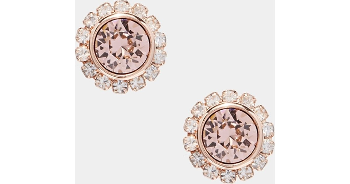 9fc156ff1127 Lyst - Ted Baker Sully Crystal Chain Stud Earring in Pink